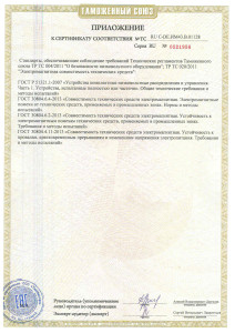 Сертификат ТС приводы MR до 2021-2