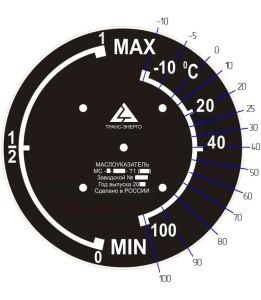 циферблат маслоуказателя мс климатическое исполнение Т1
